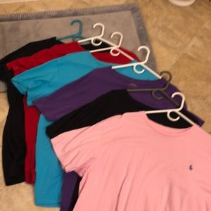 Men's Polo round collar pocket short sleeve T's